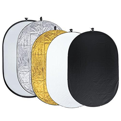 5in1 Reflektor Faltreflektor Set 103*153cm Gold Silber Schwarz Weiß Soft R12-153