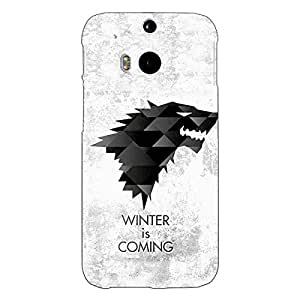 Jugaaduu Game Of Thrones GOT House Stark Back Cover Case For HTC One M8