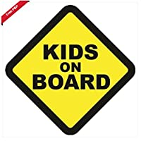 Kids On Board Vehicle Car Window Warning Safety Sticker Sign, Decal, Vinyl