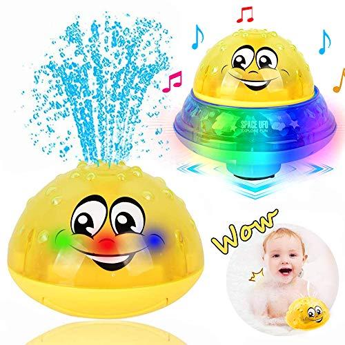 ZHENDUO Badespielzeug, Elektrische Induktionssprinkler Wasserspray Spielzeug, Baby Badespielzeug Spray Ball, Badespielzeug für 1-jährige, Babyspielzeug,Badewannenspielzeug (Blau)