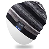 Mydeal Rechargeable Audio Bluetooth Bonnet À La Mode Double Knit Skully Chapeau...