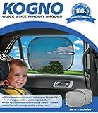 Pare-soleil voiture pour bébés (Pack 2) - Nuances de fenêtre de voiture - La Prime de voiture parasol blocs plus de 97% des rayons UV nocifs - bébé voiture offrent une Protection optimale contre l'éblouissement & chaleur - garantie à vie