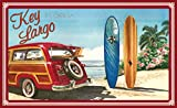 Northwest Art Mall ed-5740 Bgr Key Largo Florida Woodie Auto & Surfbretter, Print von Künstler Evelyn Jenkins Drew, 27,9 x 43,2 cm