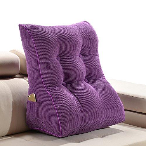 ZWL Solid Color Triangle Coussin de sofa, oreiller de bureau Coussin d'oreiller Grand dossier Lit Soft Bag Coussin lavable Protégez votre cou et votre taille, 45-55cm mode z ( Couleur : #3 , taille : 55*30*60CM )