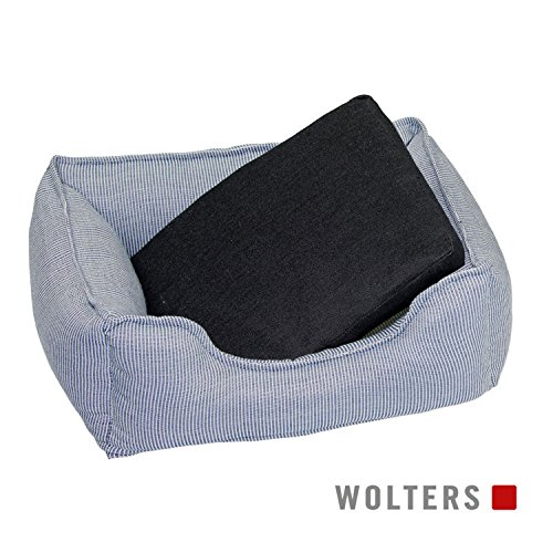 Wolters Dog Lounge Noble Stripes denim/granit 60 x 45 cm (Lounge Hundebett)