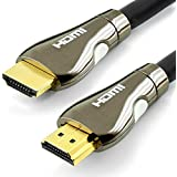 Cable HDMI 1.4 Profesional - 15M - Compatible con HDMI 2.0 - Ultra HD 2160p (4K) / Full HD 1080p - alta velocidad con 3D, Ethernet y Canal de Retorno de Audio (ARC) - Blindaje triple