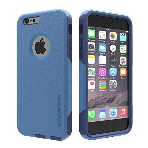 eSellerbox® Coque rigide pour iPhone 6/6S Protection antichocs et antirayures des chutes et des chocs durable Emballage de vente Blue&Lake Blue