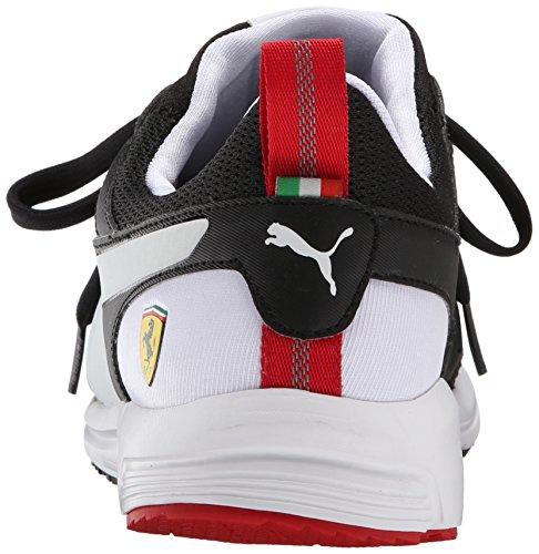 Puma Pitlane Ferrari Night Cat Lace-up Fashion Sneaker Black/White