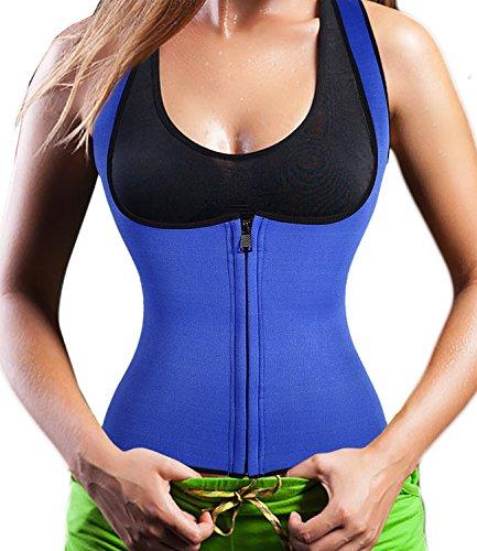 Neoprene Sauna Vest with Zipper Adjustable Tank Top Vest Waist Trimmer for women