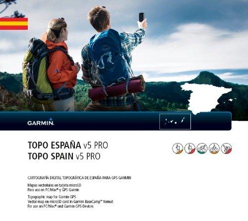 Garmin Topographische Karte Topo Spanien V5 Pro mit ActiveRouting Funktionen und über 2000 Rad & Wanderwege (Sd-karte Memorias)