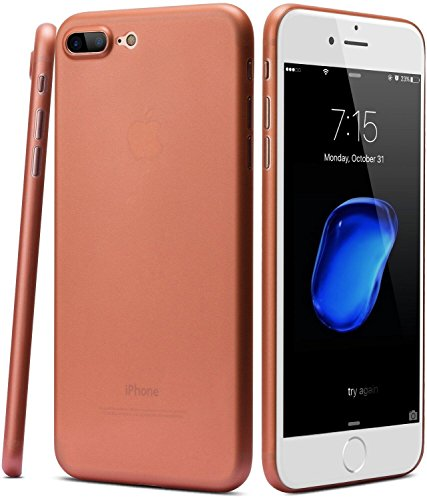 iPhone 7 Plus iPhone 8 Plus Coque, TOZO® [0.35mm] Ultra-Thin [ Perfect Fit ] World's Thinnest Hard Plustect Coque Back Cover Bumper [ Semi-transparent ] Lightweight pour iPhone 7 Plus iPhone 8 Plus 5. Semi Transperant Matte Rose gold