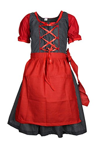 MS-Trachten Kinder Dirndl Tracht Trachtenkleid Claudia