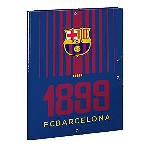 Futbol Club Barcelona- Carpeta Folio Gomas con 3 Solapas, 260 x 365 mm (SAFTA 511729068)