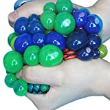 fish 3 PC-Venting Grape-Ball Squeeze betont Reliever Spielzeug-lustige Neuheit Gadgets Geschenk-Spielzeug Multicolored C