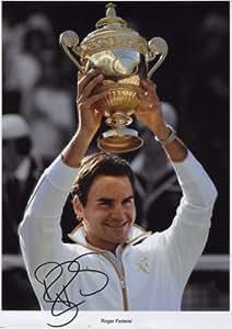 Roger Federer Signé Autographe affiche de photo