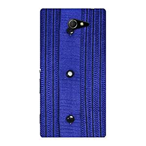 Stylish Royal Blue Sweat Print Back Case Cover for Sony Xperia M2