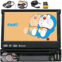Camera di navigazione GPS Video Eincar Dash 1 din autoradio CD Stereo schermo singolo lettore DVD digitale touch Radio Receiver pannello staccabile Autoradio Bluetooth subwoofer AUX CD MP3 Audio 8GB Headunit + HD wireless retrovisore