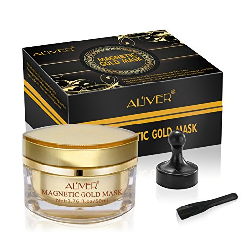 ROMANTIC BEAR Magnetic Gold Mask Face Mask Skin Care Mineral-Rich Pore Cleansing Removes Skin Impurities (A)