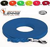 LENNIE Leichte Super Flex BioThane Schleppleine 9 mm / 1-30 Meter [1 m] / 9 Farben [Azurblau (Türkis-Blau] / Geflochten/Ohne Handschlaufe