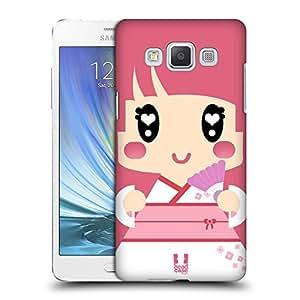 Head Case Designs Fille Rose Dans Kimono Japonaise Kawaii Série 1 Étui Coque D'Arrière Rigide Pour Samsung Galaxy A5