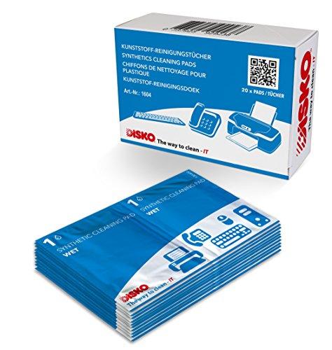 Reinigungstücher-pack (Disko Getränkte Kunststoff-Reinigungstücher, 1er Pack (1 x 20 Stück))