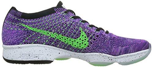 Nike Wmns Flyknit Zoom agilità, tennis donna vivid purple voltage green 501