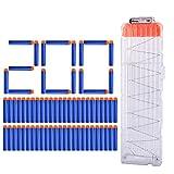 DUS 1er 18-Darts Magazin Clip + 200er Pfeile Darts für Nerf Elite