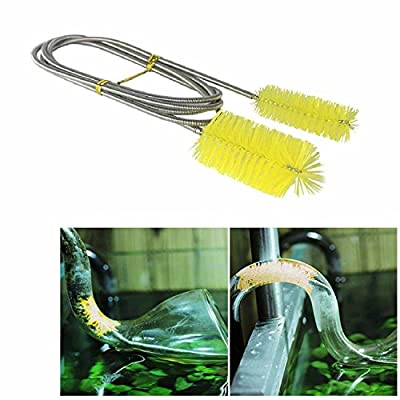KaLaiXing brand Flexible155cm Double Ended Water Filter Pump Pipe Cleaning Brush Aquarium Fish Tank Air Tube Hose Cleaner--blue