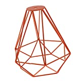 Sharplace Vintage Diamant Lampenschirme aus Metall für Hängeleuchte Deckenleuchte Wohnzimmer Lampe 20x20cm - Orange, 20x20cm