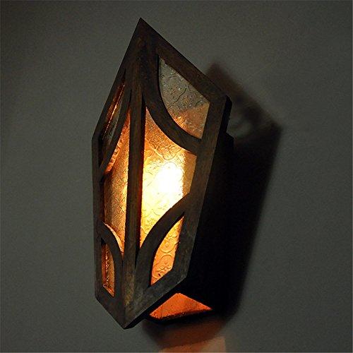 Bronze-kronleuchter 21-licht (Retro Charakter hölzern Mauer Lampe Korridor Hause Dekoration exotische Stil Wand Licht,21 * 39cm)