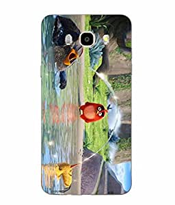 Snazzy Angry Bird Printed Colorful Soft Back Cover For SAMSUNG Galaxy J5 - 6 (New 2016 Edition)