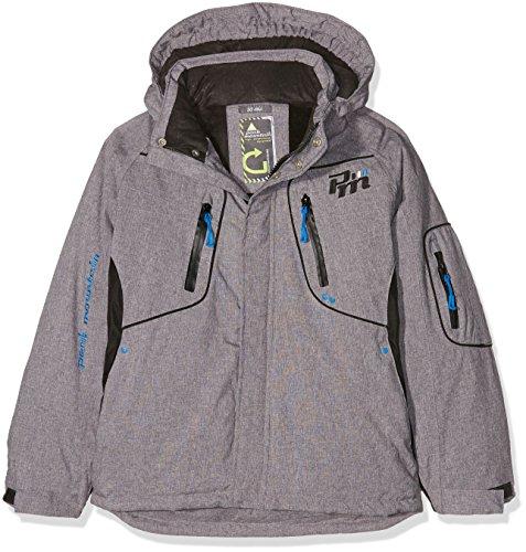 online store 660e8 842c6 Peak Mountain Ecamate Blouson de Ski Garçon, Gris Chiné, FR (Taille  Fabricant : 16 Ans)