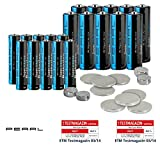 PEARL Uhrenbatterien Set: Batterie-Set 32-teilig mit Alkaline- und Lithium-Zellen (Batterien Spar Pack)