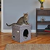 RHRQuality Curious Katze Cube Mushroom Kuschelhöhle katzenspielzeug für katzen 38,4 x 38,4 x 42cm, Katzenhöhle und Hocker und Katzenbett in 1 Normal €59,5 ! Super Amazon Katzenbettchen Promo