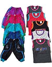 CH fashion Capri with rib and sleeve t shirt for kids 3 to 4 Year (Pack of 5)