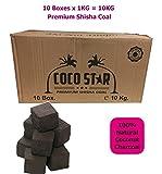 10kg de carbón cubos de Premium carbón Shisha narguile Sheesha carbón cubos (90minutos de...