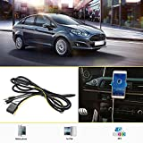 KKmoon Aux 12 Pin 3.5 mm Jack Aux-In Kabel Line-Audio-Adapter für Ford Fiesta / Focus / Mondeo PUMA / MK2 / MK3 / S-MAX-Blitz-Stecker für iPhone 5 5 5 s 6 6 Plus 6 s