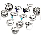 Best Rings For Teen Girls - Moda Accessories - Fashion Antique Silver Set of Review