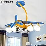 Zimmer Lfnrr Hochwertige Kreative Bügeleisen Flugzeuge Lichter Kinder Jungen Schlafzimmer Leuchten Deckenleuchten Led-Cartoon Beleuchtung Persönlichkeit Beleuchtung, Warmes Licht
