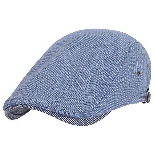 ililily Two-tone Classic Cotton Flat Newsboy Hunting Cap Cabbie Irish Ivy Hat (flatcap-661-5)