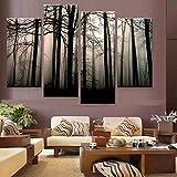 VNKLUCF Leinwandbild Kunst hohe Qualität 4 Panel Fotodruck Malerei ungerahmt