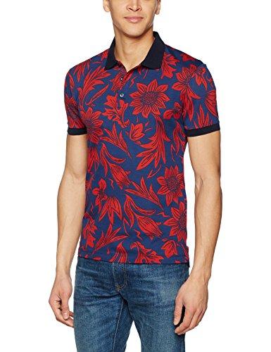 Antony Morato Mmks01049-Fa140061, T-Shirt Uomo, Blu (Blu Persiano), Large (Taglia Produttore:L)