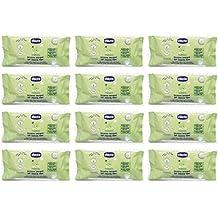 12 X Toallitas detergentes para bebés toallitas Chicco higiene limpieza niños