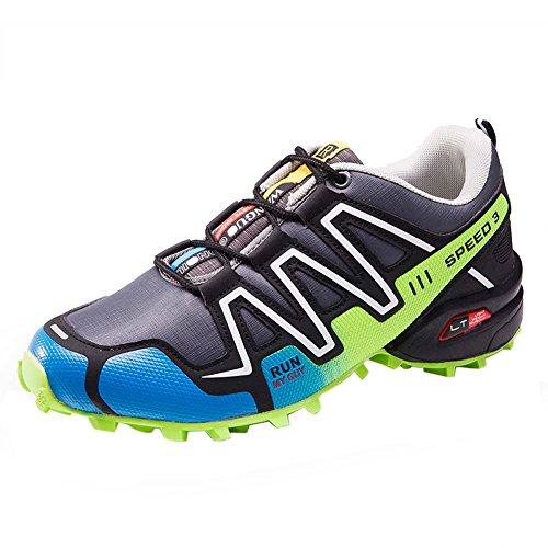 Zapatos para Caminar Ligeros Hombres Al Aire Calzado Deportivo (EU 41, Gris-1)