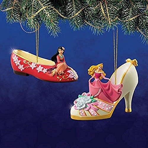 The Bradford Exchange Disney Once Upon a Slipper Ornament Set #12 Mulan and Cinderella by Bradford Exchange