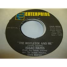 ISSAC HAYES 45 RPM The Mistletoe and Me / Winter Snow