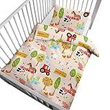 Kinderbutt Bettwäsche - Babybettwäsche - Biber - creme - Größe 100x135 cm (40x60 cm) - 100% Baumwolle