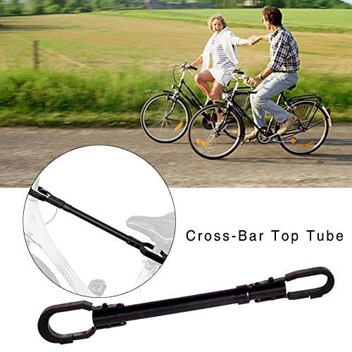 mooderff Fahrradrahmen Tension Mount Bar Adapter - Fahrrad Cross Bar -Universal Einstellbarer Fahrradrahmen Adapter Für Die Aufbewahrung Von Gepäckträgern,Y-Rahmen, Dual Suspension, Cruiser Bikes -