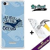 Becool® Fun- Funda Gel Flexible para Wiko Fever [ +1 Protector Cristal Vidrio Templado ]Carcasa TPU fabricada con la mejor Silicona, protege y se adapta a la perfección a tu Smartphone y con nuestro exclusivo diseño Libre como el océano