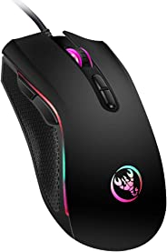 Wired Mouse Docooler A869 Wired Gaming Mouse 3200DPI 7 Buttons 7 Color LED Optical Computer Mouse Player Mice Gaming Mouse fo